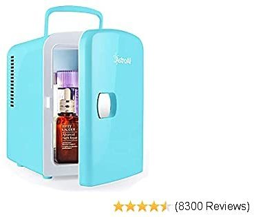 AstroAI Mini Fridge 4 Liter/6 Can AC/DC Portable Thermoelectric Cooler and Warmer for Skincare, Breast Milk, Foods 2020