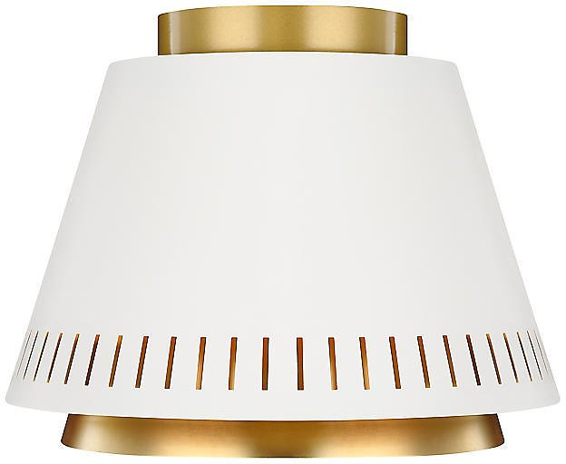 ED Ellen DeGeneres X Generation Lighting - Carter Flush Mount, Matte White | One Kings Lane