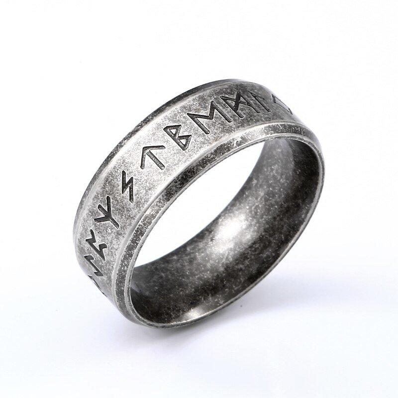 US $2.98 |Beier 316L Stainless Steel Odin Norse Viking Amulet Rune MEN Ring Fashion Words RETRO Rings Jewelry LR R133|Rings| - AliExpress