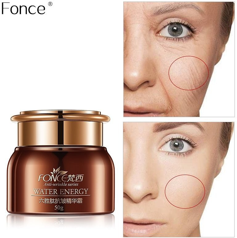 US $15.12 28% OFF|Fonce Six Peptide Anti Wrinkle Face Cream 50g Anti Aging Dry Skin Hydrating Facial Lifting Firming Peptide Serum Day Night Cream|Facial Self Tanners & Bronzers| - AliExpress