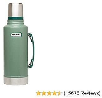 Stanley Classic Vacuum Insulated Wide Mouth Bottle - BPA-Free 18/8 Stainless Steel Thermos for Cold and Hot Beverages – Keeps Liquid Hot or Cold for Up to 24 Hours