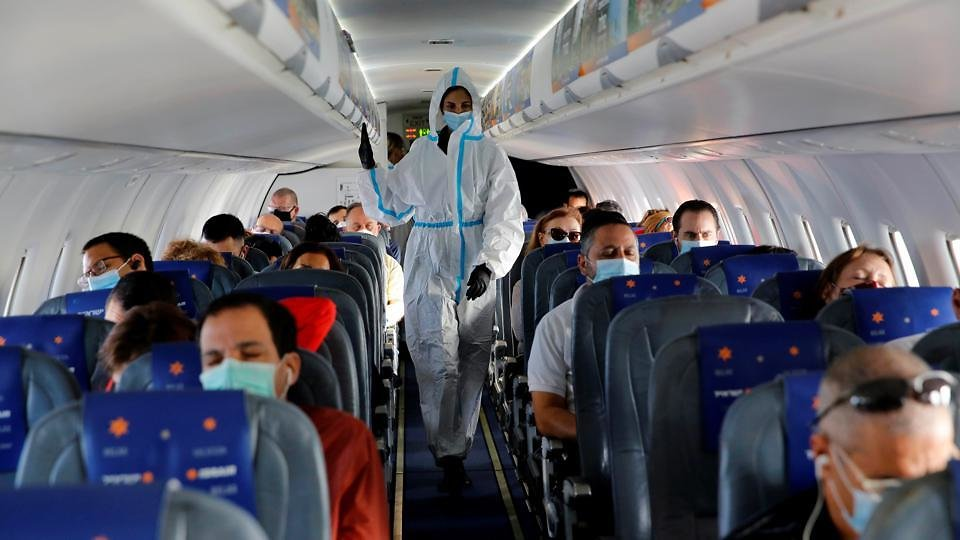Study: Risk Of Covid-19 Transmission On Planes 'Virtually Nonexistent' For Mask-Wearers