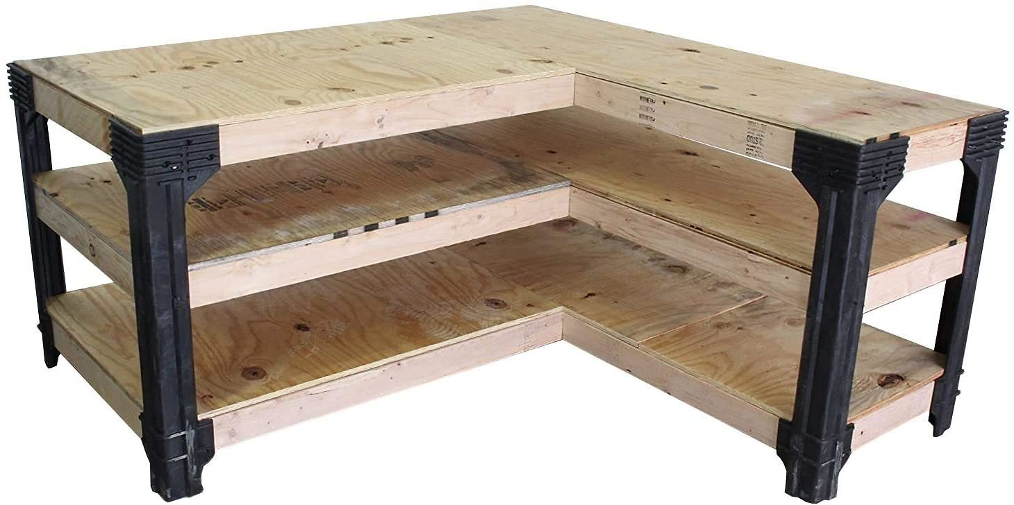 2x4basics Custom L-Shaped Workbench