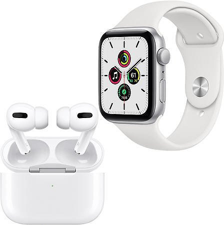 Apple Watch SE 44mm GPS + Apple AirPods Pro with Wireless Charging Case