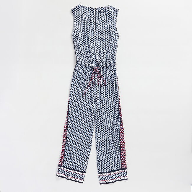 COLORBLOCK GEO PRINT JUMPSUIT