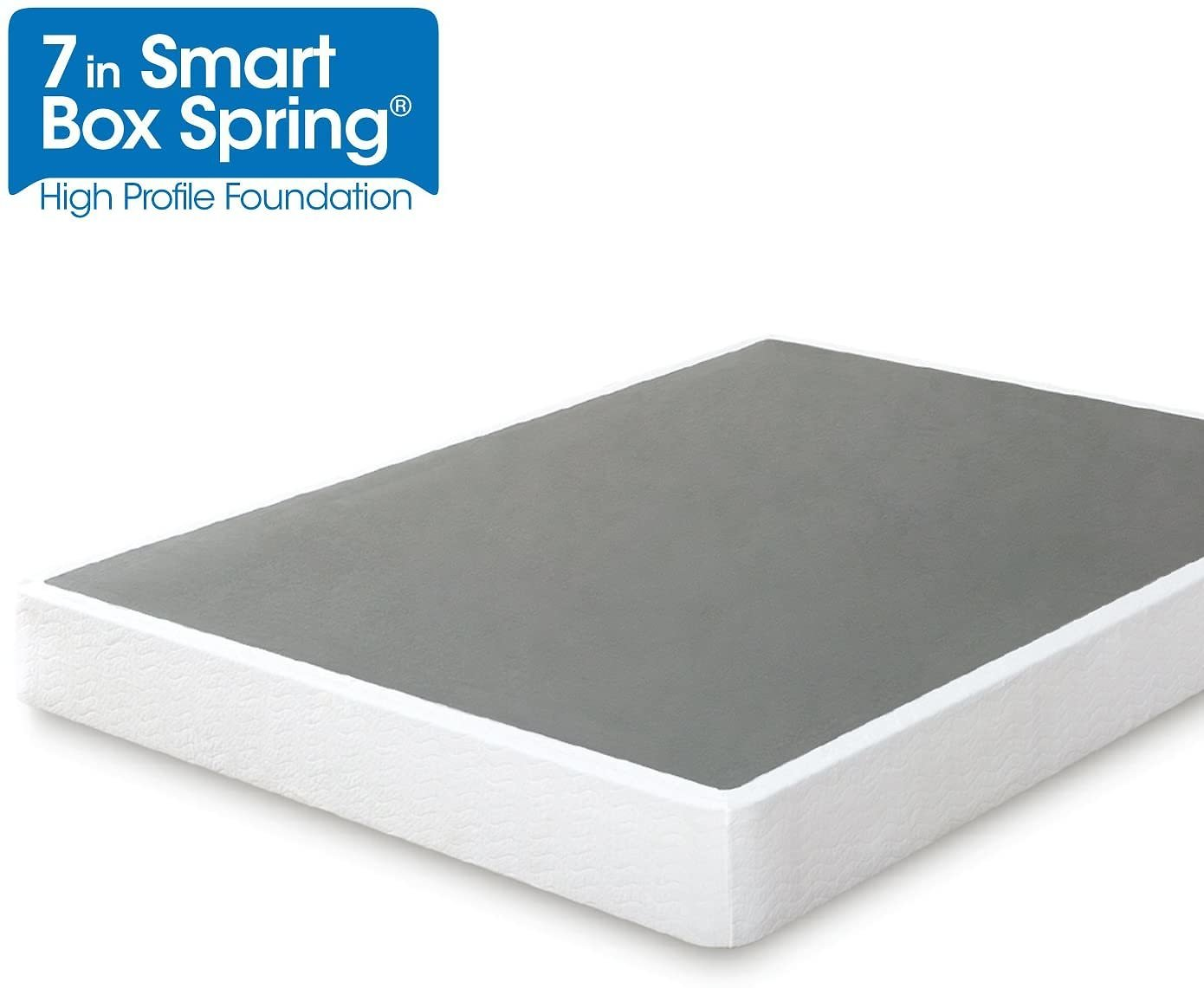 Zinus Armita 7 Inch Smart Box Spring / Mattress Foundation / Built-to-Last Metal Structure / Easy Assembly, Queen