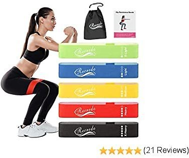 Recredo Resistance Bands for Women, Resistance Bands Set Exercise Bands for for Legs and Butt Booty Bands for Working Out Workout Bands Resistance for Women - Fitness, Stretching, Strength Training