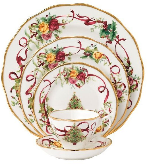 Christmas 5 Piece Place Setting, Service for 1