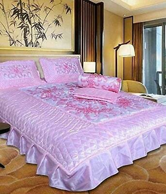 4 PIECES Room Set 1bed Sheet 1 AC Comforter 2 PILLOW Cover Room Decor