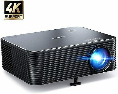 Full HD 4K 1920x1080P 6800 Lumens Portable Home Movie Video LCD Projector HDMI