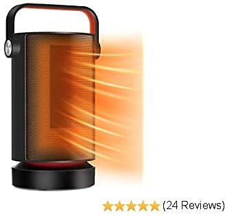 Space Heater, Electric Ceramic Oscillating Heater Fast Quiet Heating Portable Heater with Unique Knob Control Adjustable Thermostat, Small Space Heater for Office Home Bedroom Desk Indoor Use