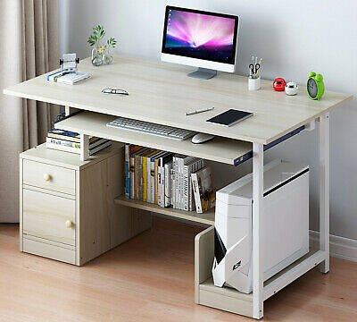 Computer Home Office PC Desk Writing Table Workstation Wood Bookshelf Furniture