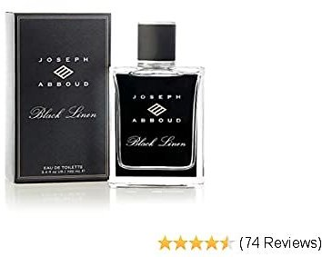 Joseph Abboud Black Linen - Cologne Fragrance Spray for Men - Grapefruit, Clary Sage and Haitian Vetiver - Daring and Intoxicating Scent - 3.4 Oz 100 Ml