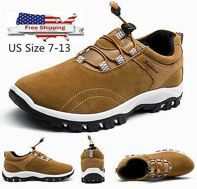 Men's Casual Athletic Outdoor Running Hiking Tennis Shoes Slip On Gym Fitness SZ