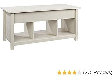 Rockpoint Argus Lift-Top Wood Coffee Table, Sun-Bleached Beige