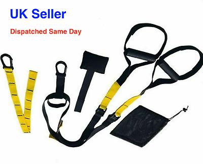 Adjustable Suspension Trainer Straps Home Gym Fitness Resistance Body Training