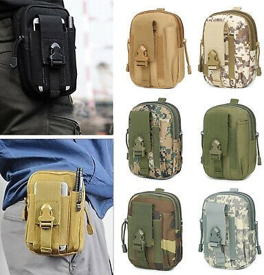 Outdoor Tactical Molle Pouch Belt Waist Fanny Pack Military Phone Bag Pocket