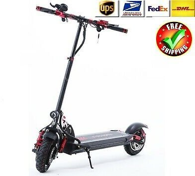 2400W 60V Two Wheel Electric Scooters Dual Drive Speed 100KM/H Foldable Kick New