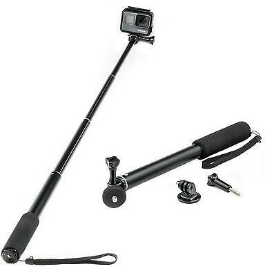 Extendable Selfie Stick Monopod for GoPro Hero 9 8 7 6 5 4 Action Cam Go Pro HD