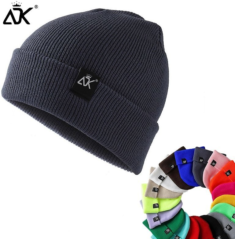 US $3.55 |Unisex Hats Knitted ADK Tags Cap Woman Beaines For Winter Breathable Men Gorras Simple Hats Warm Solid Casual Lady Beanies|Men's Skullies & Beanies| - AliExpress