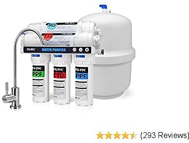 FS-TFC 5-Stage Reverse Osmosis Water Filtration System 100GPD Fast Flow Plus Extra 4 Replacement Filter for Free (FS-RO-100G-A)