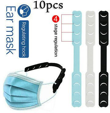 Unisex Ear Hook Adjustable Ear Strap Extension Fixing Buckle for Face Mask 10PCS