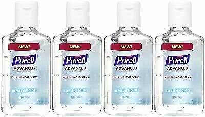 Purell Advanced Hand Sanitizer Refreshing Gel, 1 FL OZ - Pack of 4 (Total 4 Oz) 617529300148