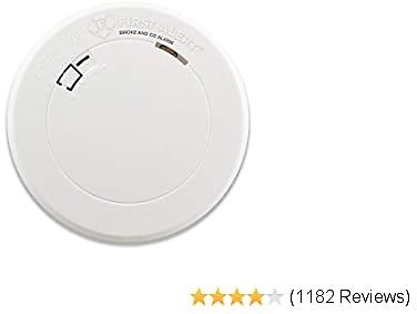 First Alert Smoke Detector and Carbon Monoxide Detector Alarm with Built-In 10-Year Battery, BRK PRC710