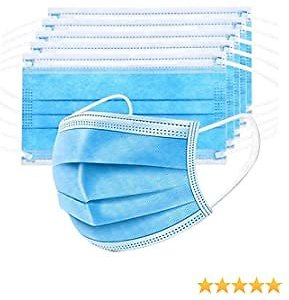 BEUIO Disposable Face Masks for Adult and Children, 3 Ply Filter Safety Mask KZ-9