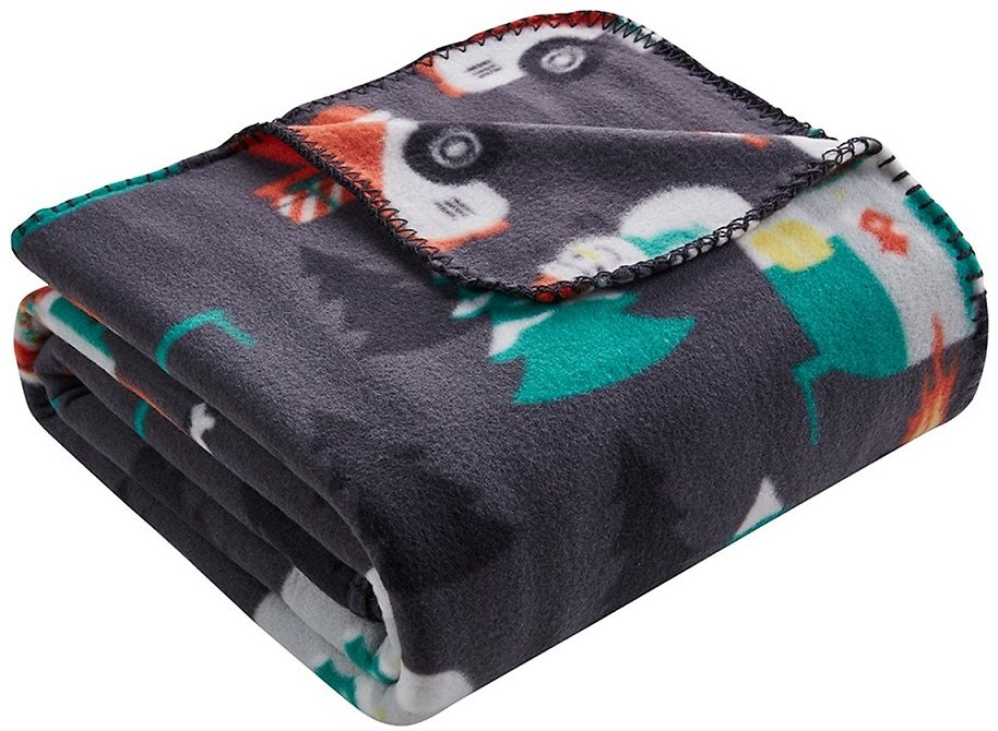 Christmas Campground Printed Fleece Throw + 3 More Patterns