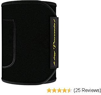 KingPavonini Waist Trimmer Belt, Waist Trainer, Promotes Sweat & Weight Loss in Mid-Section,Comfortable Phone Pocket Sauna Belt