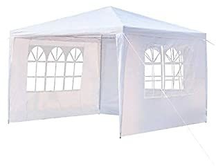 EXTREE Party Tent Canopy Outdoor Tents for Backyard Wedding Tent Heavy Duty Gazebo Cater Events Pavilion Beach BBQ with 3 Removable Side Walls (10'x10')