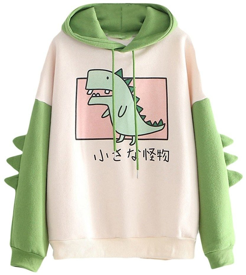 US $7.39 15% OFF|Fashion Women Sweatshirt Casual Print Long Sleeve Splice Dinosaur Hoodies Sweatshirt Tops Ropa Mujer толстовка женская|Hoodies & Sweatshirts| - AliExpress
