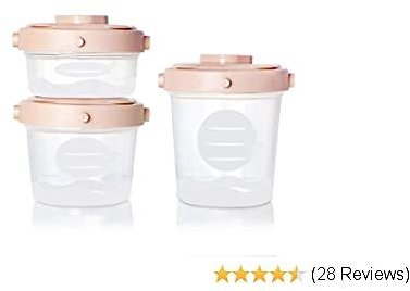 Termichy Baby Food Storage Container, BPA-Free Stackable Food Jars with Airtight Lids and Labeling, Pack of 3 for Snack Fruit Puree Yogurt(2oz,4oz,6.7oz)
