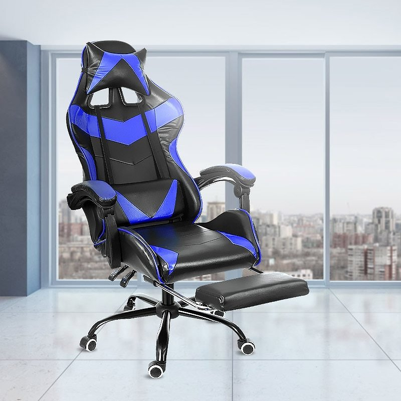 US $97.58 24% OFF|Leather Office Gaming Chair Home Internet Cafe Racing Chair WCG Gaming Ergonomic Computer Chair Swivel Lifting Lying Gamer Chair|Office Chairs| - AliExpress