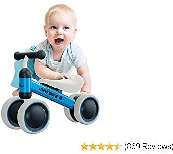 YGJT Baby Balance Bikes Bicycle Baby Walker Rides Toys for 18-36 Month Boys Girls Baby's First Bike Gift Blue (Blue)