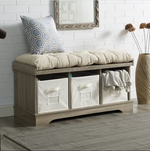 Bucyrus Cubby Storage Bench