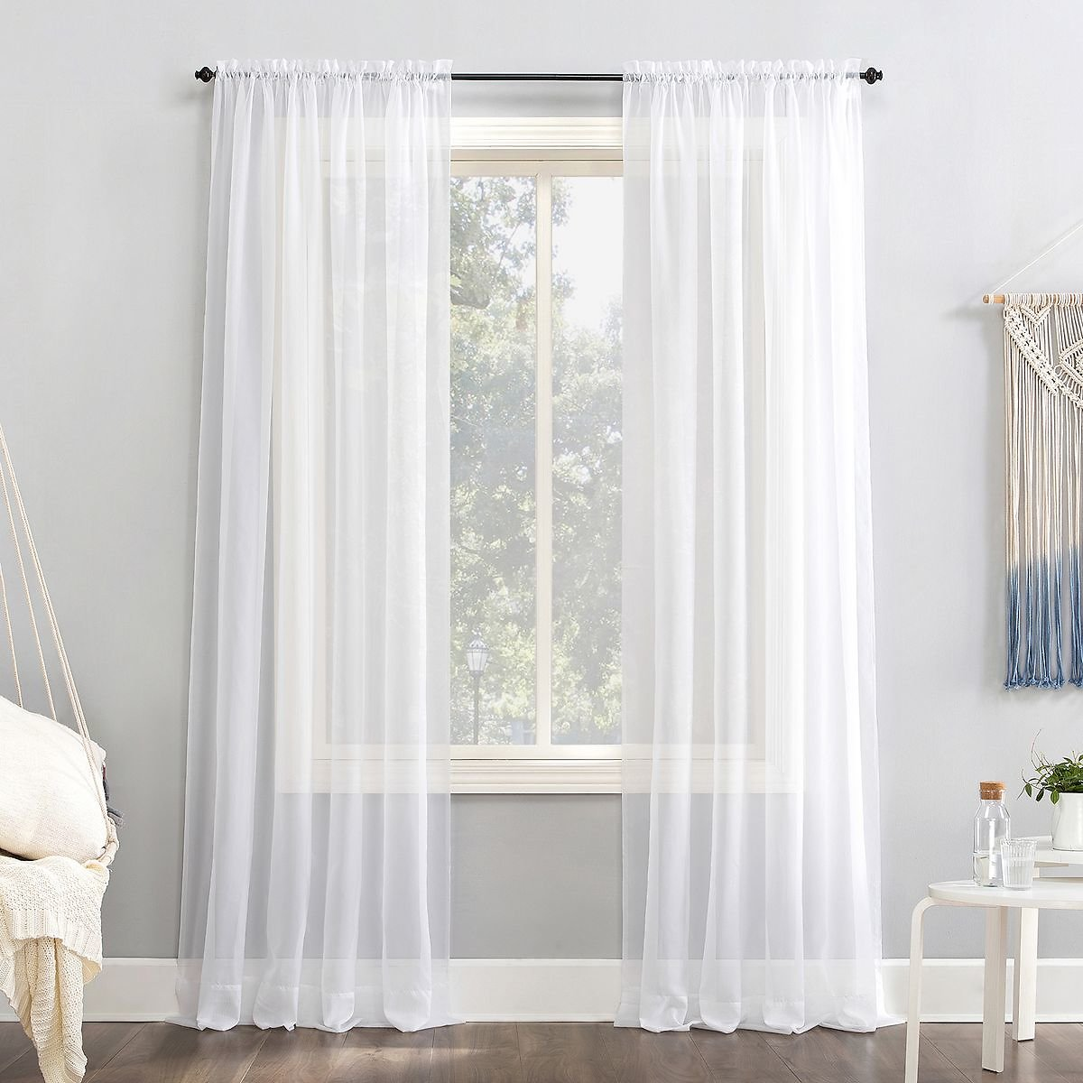 No. 918 1-Panel Emily Solid Sheer Voile Window Curtain