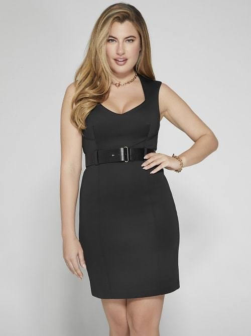 Nicole Belted Scuba Dress