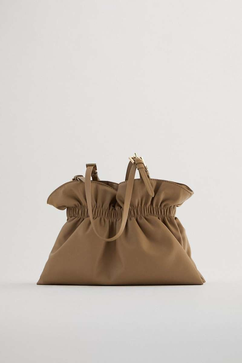 Ruched Bucket Bag