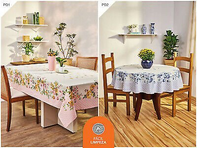 Tablecloth Pink or Blue Rose Flowers 60