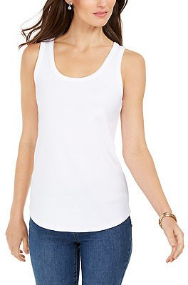 Charter Club Supima® Cotton Scoop-Neck Tank Top, Created for Macy's & Reviews - Tops - Women