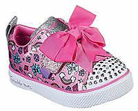 Skechers Infant/Toddler Girls Twinkle Breeze 2.0 Charming Bow Sneakers
