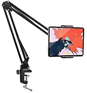 Foldable Tablet Stand/Phone Stand, Aluminum Universal Flexible Tablet Holder with 360 Degree Rotation for IPad/iPhoneX/iPad Pro/N-Switch,or Other 4.5~12.9 Inches Devices