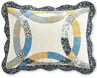 Martha Stewart Collection Wedding Rings Blue Standard Sham, Created for Macy's & Reviews - Bedding Collections - Bed & Bath
