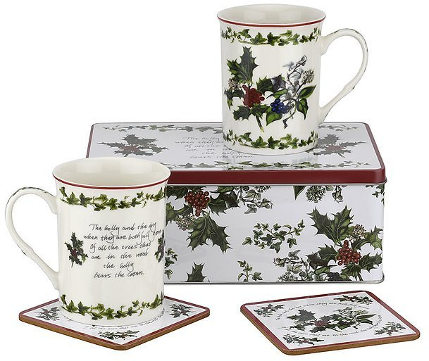 The Holly & The Ivy 5-Piece Tin Set