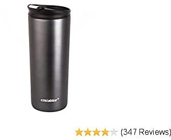 Costablue Vacuum Insulated Stainless Steel Travel Mug ; 16 Ounce Easy to Clean and Leak Proof Lid; Matte Grey