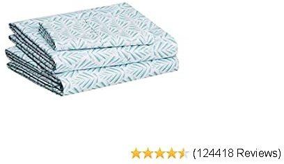 AmazonBasics Branded Lightweight Super Soft Easy Care Microfiber Bed Sheet Set with 16