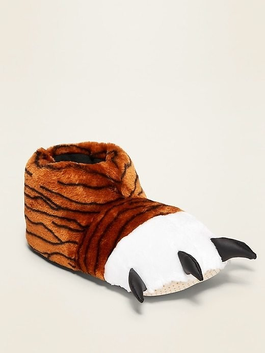 Gender-Neutral Faux-Fur Critter Slippers (5 Styles)