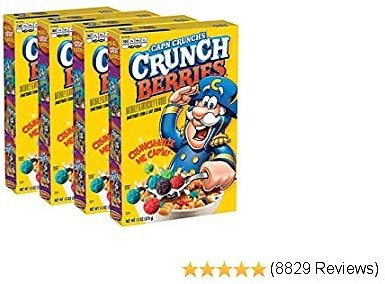 Cap'n Crunch, Crunchberries, 13 Oz Boxes (4 Pack)